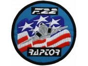 USAF F22 RAPTOR AIR FORCE EMBROIDERED PATCH