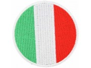 ITALY ROUND FLAG EMBROIDERED PATCH