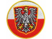 POLAND POLISH ROUND FLAG EMBROIDERED PATCH