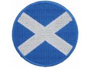 SCOTLAND SCOTTISH ROUND FLAG EMBROIDERED PATCH