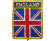 ENGLAND SHIELD FLAG EMBROIDERED PATCH