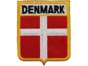 DENMARK SHIELD FLAGS EMBROIDERED PATCH #04