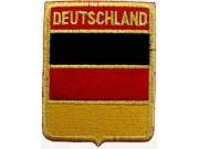 DEUTSCHLAND GERMAN SHIELD FLAG EMBROIDERED PATCH