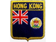 HONG KONG SHIELD FLAG EMBROIDERED PATCH