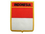 INDONESIA SHIELD FLAG EMBROIDERED PATCH