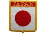 JAPAN SHIELD FLAG EMBROIDERED PATCH