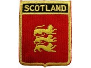 SCOTLAND SHIELD FLAG EMBROIDERED PATCH
