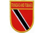 TRINIDAD AND TOBAGO SHIELD FLAG PATCH (SB)