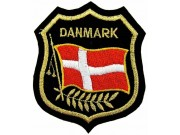Denmark Shield Flag Patch