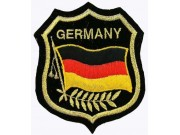 Germany Embroidered Shield Flag Patch