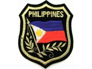 Philippines Shield Flag Embroidered Patch #06
