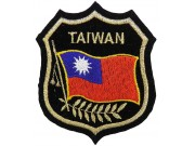 TAIWAN SHIELD FLAG EMBROIDERED PATCH