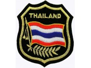 Thailand Shield Flag Iron On Embroidered Patch
