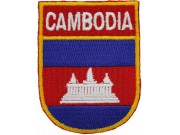 CAMBODIA SHIELD FLAG EMBROIDERED PATCH