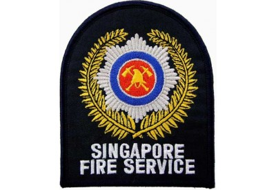 SINGAPORE FIRE SERIVCE FIREMAN PATCH
