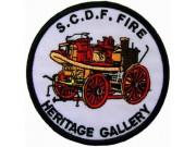 SINGAPORE S.C.D.F. FIRE ENGINE FIREMAN PATCH