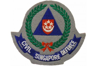 SINGAPORE FIRE SERIVCE CIVIL DEFENCE PATCH