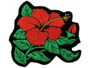 HIBISCUS FLOWER BIKER TATTO PATCH