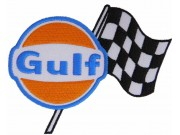 GULF OIL & GAS RACING NASCAR EMBROIDERED PATCH #02