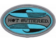 HOT BUTTERED SURFING SKATE BOARD EMBROIDERED PATCH