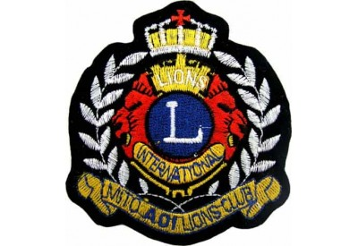 LIONS CLUB CROWN SHIELD EMBROIDERED PATCH #01