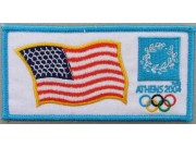 2007 ATHENS OLYMPIC - USA EMBROIDERED PATCH