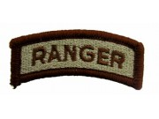 US AMRY RANGER TAB IRON ON EMBROIDERED PATCH #02