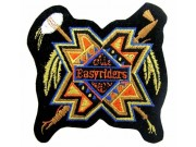 TRIBAL FEATHER BIKER EMBROIDERED PATCH