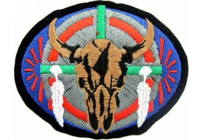 Indian Cattle Skull Biker Rider Embbroidered Patch