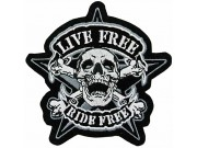 Skull Biker Ride Free Embroidered Patch #04-A1