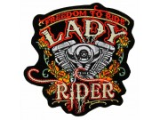 Lady Rider Biker Embroidered Patch #05-C1