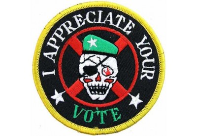 I APPRECIATE YOUR VOTE BIKER SKULL PATCH #05