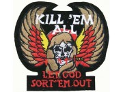 SKULL LET GOD SORT'EM OUT PUNK / ROCK PATCH