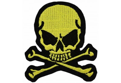 SKULL CROSSBONES PUNK & ROCK EMBROIDERED PATCH #01