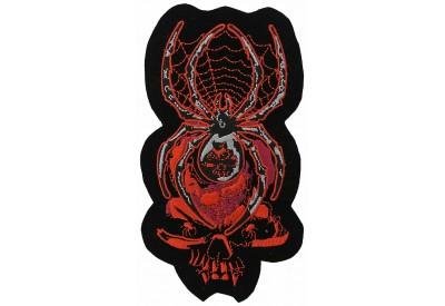 SKULL SPIDER PUNK & ROCK EMBROIDERED PATCH #01