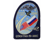 2010 RUSSIA SPACE FLIGHT SOYUZ TMA-19 MKC PATCH