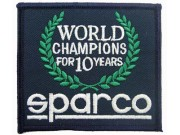 SPARCO RACING SPORT IRON ON EMBROIDERED PATCH #01
