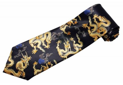 ORIENTAL DRAGON TIE NOVELTY NECKTIE #02