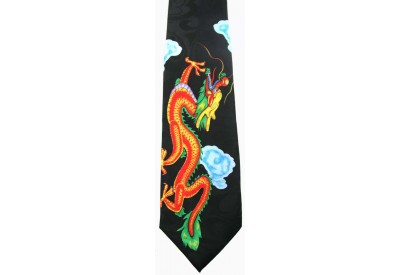 ORIENTAL DRAGON TIE NOVELTY NECKTIE #08
