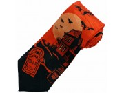 HALLOWEEN GHOST HOUSE NECKTIE NOVELTY TIE #HW-01