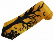 HALLOWEEN GHOST HOUSE NECKTIE NOVELTY TIE #HW-02