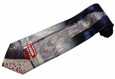 LONDON CLOCK TOWER TIE NOVELTY NECKTIE #01