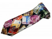 EUROPEAN MONEY EURO TIE NOVELTLY NECKTIE #02