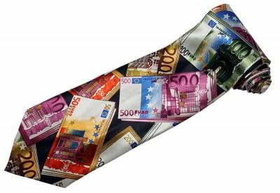 EUROPEAN MONEY EURO TIE NOVELTLY NECKTIE #02