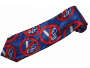 NO SMOKING SIGN TIE NOVELTY NECKTIE #01