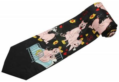 FUNNY PIG ANIMAL TIE NOVELTY NECKTIE #02