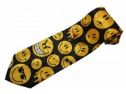 SMILEY HAPPY FACE TIE NOVELTY NECKTIE #01