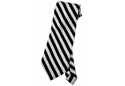 STRIPES TIE WHT/BLACK NOVELTY NECKTIE #03
