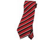 STRIPES TIE RED/WHT/BLACK NOVELTY NECKTIE #04