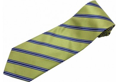 STRIPES TIE OLIVE GREEN WOVEN NOVELTY NECKTIE #28
